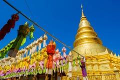Wat Phra That Haripunchai-tempel in Thailand stock fotografie