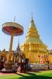 Wat Phra That Haripunchai temple in Thailand stock image