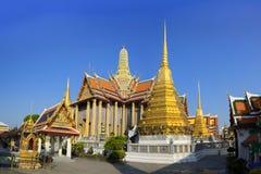 Wat Phra Kaeo,鲜绿色菩萨的寺庙 库存图片