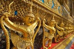Wat Phra Kaeo в грандиозном дворце в Бангкоке Стоковые Изображения