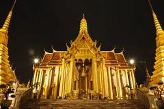 Wat Phra Kaeo alla notte Tailandia Fotografia Stock