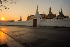 Wat phra kaeo. Background of Wat Phra Kaew ( the Temple of the Emerald Buddha) in morning. Here is destinations of landmarks traveler royalty free stock photography