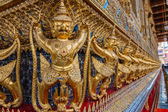 Wat Phra Kaeo,Bangkok-Grand Palace & Temple of the Emerald Buddha or Wat Phra Kaeo in Bangkok, Thailand. Bangkok-Grand Palace & Temple of the Emerald Buddha Stock Photos