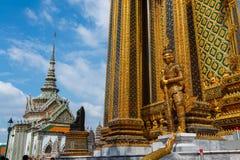 Wat Phra Kaeo, Bangkok-großartiger Palast u. Tempel Emerald Buddhas oder des Wat Phra Kaeos in Bangkok, Thailand Stockfotografie