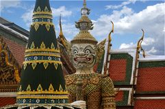 Wat Phra Kaeo, Bangkok, Thailand Royalty Free Stock Photography