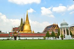 Wat Phra Kaeo, Banguecoque, Tailândia Fotos de Stock Royalty Free
