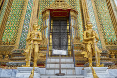 Wat Phra Kaeo in the Grand Palace in Bangkok Royalty Free Stock Image