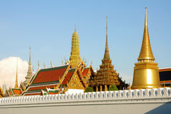 Wat phra kaeo or Grand Palace Bangkok Thailand. Bangkok\'s most famous landmark was built 1782. The palace conclud several impressive buildings including Wat Royalty Free Stock Photography