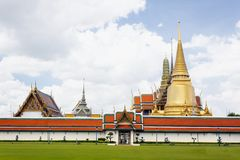 Wat Phra Kaeo at grand palace, thailand. Royalty Free Stock Image
