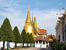 Wat Phra Kaeo, großartiger Palast (Bangkok, Thailand) Lizenzfreie Stockfotos