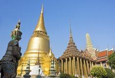 Wat Phra Kaeo, il grande palazzo, Bangkok Tailandia Immagine Stock Libera da Diritti