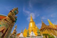 Wat Phra Kaeo tempel av Emerald Buddha Arkivfoton