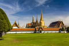 Wat Phra Kaeo, Temple of the Emerald Buddha. Bangkok. Stock Photos