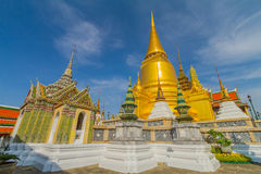 Wat Phra Kaeo, Temple of the Emerald Buddha and the home of the Thai King Royalty Free Stock Photos
