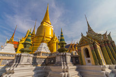 Wat Phra Kaeo, Temple of the Emerald Buddha and the home of the Thai King Stock Photo