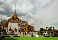 Wat Phra Kaeo temple gable Stock Photo
