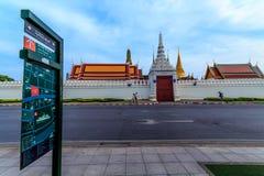 Wat Phra Kaeo, Thailand. Wat Phra Kaew in golden light in the evening Stock Images