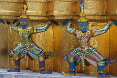 Wat Phra Kaew à Bangkok ou le temple d'Emerald Buddha Photographie stock