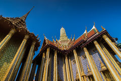 Wat Phra Kaew é templo de Emerald Buddha, Banguecoque, Tailândia Imagens de Stock