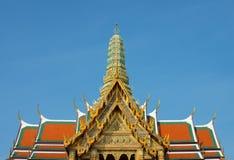 Wat Phra Kaew överblick Fotografering för Bildbyråer