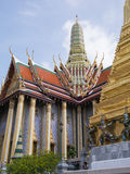 Wat Phra Kaew (το μεγάλο παλάτι) της Ταϊλάνδης Στοκ Φωτογραφία