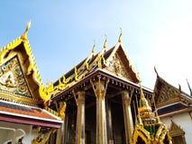 Wat Phra Kaew, висок изумруда, Бангкок стоковые фотографии rf
