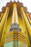 Wat Phra Kaew, висок изумрудного Будды, Бангкок Стоковое Изображение