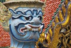 Wat Phra Kaew в Бангкоке или виске изумрудного Будды Стоковая Фотография
