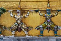Wat Phra Kaew в Бангкоке или виске изумрудного Будды Стоковые Изображения RF