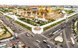 Wat Phra Kaew, грандиозный дворец в Бангкоке, Таиланде Стоковое фото RF
