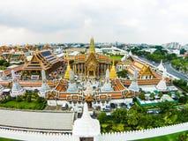 Wat Phra Kaew, грандиозный дворец в Бангкоке, Таиланде Стоковые Изображения RF