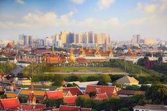Wat Phra Kaew, грандиозный дворец на сумерк в Бангкоке Стоковая Фотография RF