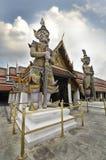 Wat Phra Kaew или висок изумрудного Будды в Бангкоке, Таиланде Стоковые Изображения RF