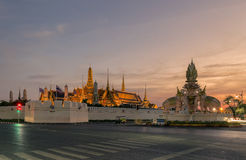 Wat Phra Kaew или висок изумрудного Будды Стоковая Фотография