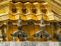 Wat Phra Kaew 佛教寺庙 库存照片