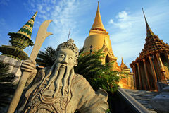 Wat phra Kaew. Golden Chedi at Wat Phra Kaew in Thailand royalty free stock photo