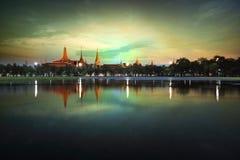 Wat Phra Kaew. At night, bangkok, Thailand royalty free stock photos