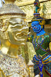 Детали Wat Phra Kaew Стоковая Фотография