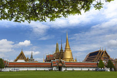 Wat Phra Kaew. Thai call Wat Phra Kaew : Temple of the Emerald Buddha; full official name Wat Phra Si Rattana Satsadaram,is regarded as the most sacred Buddhist stock images