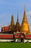 Wat Phra Kaew. Golden Pagoda Wat Phra Kaew, temple at Bangkok in Thailand Royalty Free Stock Image