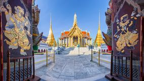 Wat Phra Kaew. Ancient temple in bangkok Thailand stock image