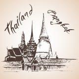 Wat Phra Kaew - Bagkok, Thailand. Royalty Free Stock Image