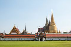 Wat Phra Kaew, Bangkok famous landmark of Thailand. stock photos