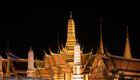 Wat Phra Kaew in Bangkok at night Royalty Free Stock Photos