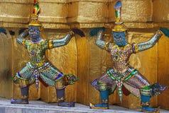 Wat Phra Kaew a Bangkok o il tempio di Emerald Buddha Fotografia Stock Libera da Diritti