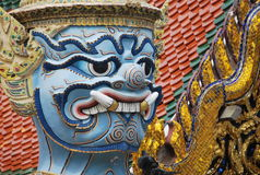 Wat Phra Kaew a Bangkok o il tempio di Emerald Buddha Fotografia Stock