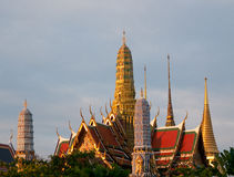 Wat Phra Kaew a Bangkok, Tailandia Fotografia Stock Libera da Diritti