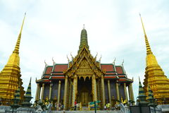Wat Phra Kaew a Bangkok, Tailandia Fotografia Stock