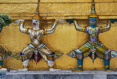 Wat Phra Kaew in Bangkok or the Temple of the Emerald Buddha Royalty Free Stock Images