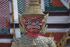 Wat Phra Kaew in Bangkok or the Temple of the Emerald Buddha Stock Images
